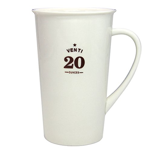 Momugs Classic Style Simple Pure Large Milk Mug, Tall White Ceramic Coffee Cup, 20 oz ()