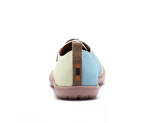 Le petit Enfant Garon Pour amp;beige Toiles Enfant De Bleu Uin À Chaussures Casual Cheval daW7B