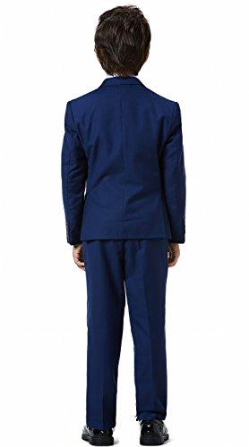 Boys Classic Formal Dress Suits Set 5 Piece Slim Fit Dresswear Suit (8, Navy Blue 2) by WQI.HAN (Image #2)