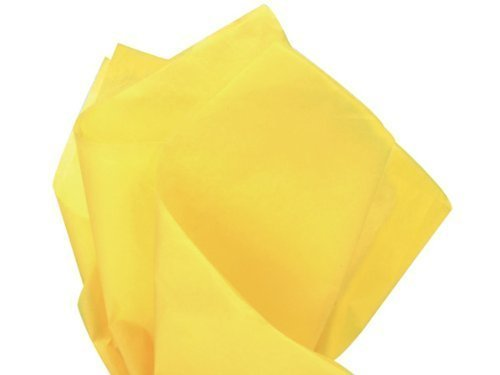 Bright Dandelion Canary Yellow Tissue Paper 20 Inch x 30 Inc