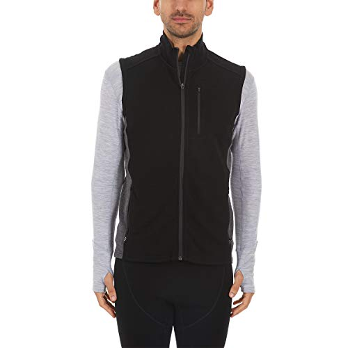 Minus33 Merino Wool Clothing Men's Adirondack Midweight Wool Vest, Black/Charcoal, Small ()