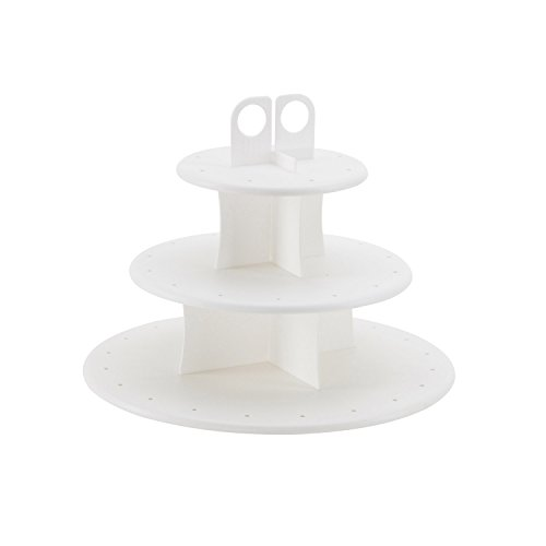 (Sweet Creations Cupcake and Cake Pop 3-Tier Display Stand)