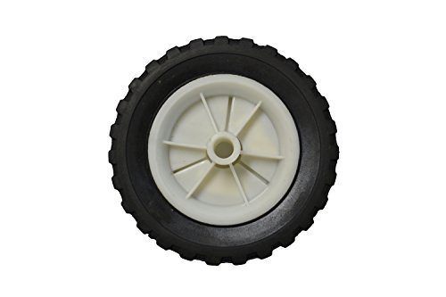 Replacement Solid Rubber Tire with Plastic Wheel (1/2' Shaft Hole)