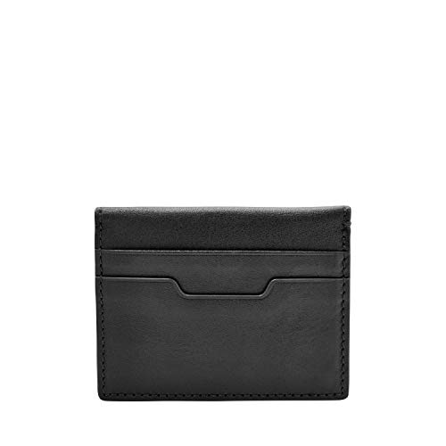Fossil Men's Magnetic Card Case Wallet, Black, One Size