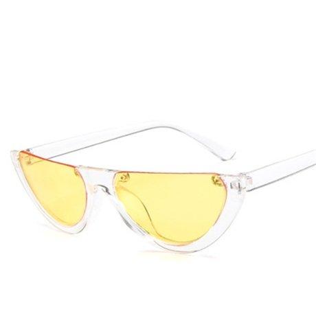 Sol Sin De Diseño Lente Gradiente Gafas De Gafas Mitad Rosa De Reborde amarilla Mujeres KLXEB Sol STqAw