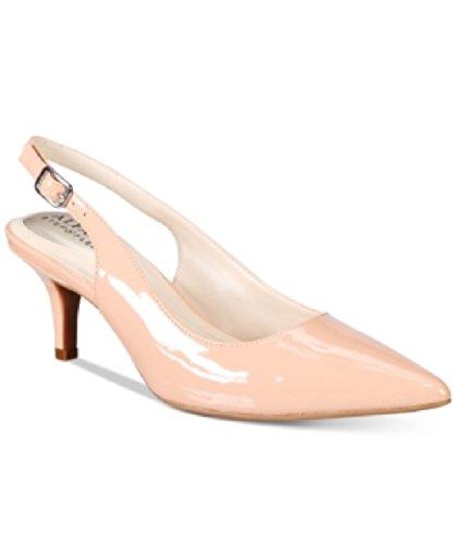 Alfani Womens BABBSY Pointed-Toe Heels Blush 8M - Alfani Slingback