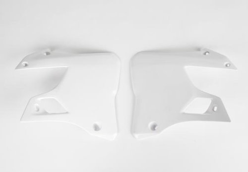 (UFO Plastics Radiator Cover White for Yamaha YZ 125 250 96-01)