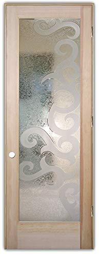 Interior Glass Door Sans Soucie Art Glass Seville II 3D