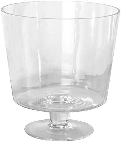 Glazen kleinigheidschaalGrote 3L Gateaux DessertschotelGlazen serveerschaalHedendaags modern designVaatwasserbestendigM W