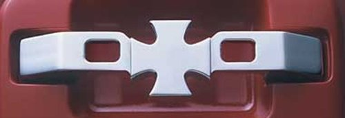 All Sales 572 Polished Billet Aluminum Iron Cross Door Handles - Set of 2 Billet Iron Cross Door Handles