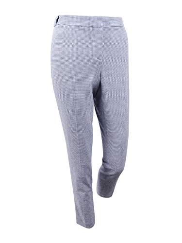 Calvin Klein Women's Petite Seersucker Straight-Leg Pants (6P, Navy/White) ()
