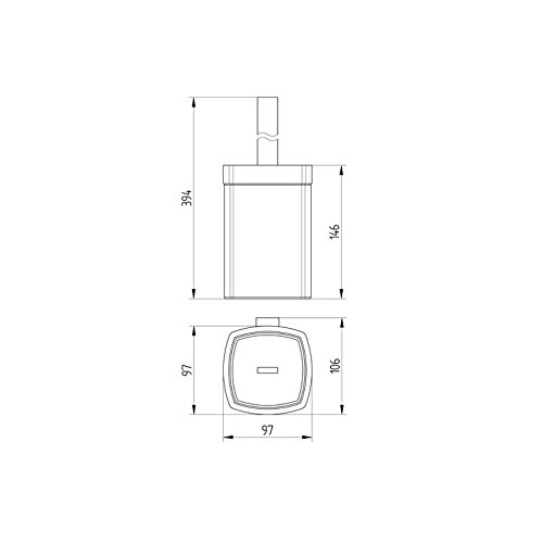 Serie 480 AVENARIUS Toilettenb/ürstengarnitur HSN 4802200010