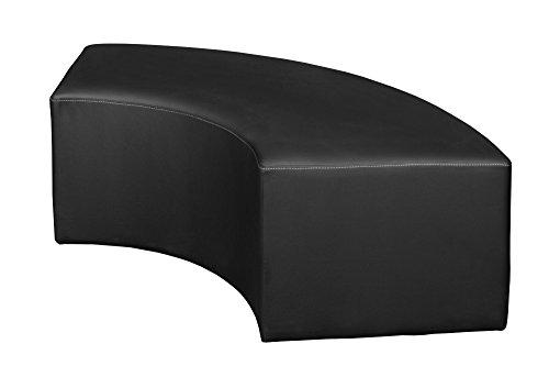 Aurora Curved Ottoman- Black ()