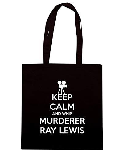 T-Shirtshock Borsa Shopper Nera TKC1844 KEEP CALM AND WHIP MURDERER RAY LEWIS