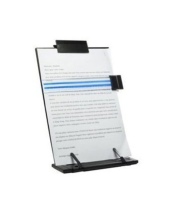 Metal Desktop Document Holder for Typing Reading with 7 Adjustable - Copyholder Fellowes Metal