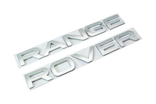 Matte Silver Finish Hood/Tailgate 3D Letter Stickers For Range Rover, Range Rover Sport, Evoque, etc, 3D Alloy Metal 10-Letter Set