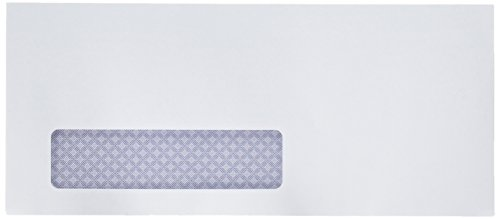Quality Park Window Security Envelope, Reveal-N-Seal, White, 4.125 x 9.5, 500 per Box, (67418) ()