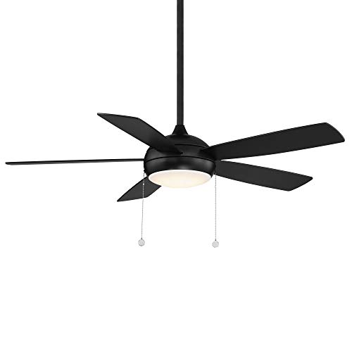 WAC Lighting F-002L-MB Disc Indoor Ceiling Fan with Pull Chain Control, 52in Blade Span, Matte Black