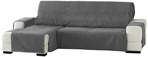 Zoco Sofa Überwurf Chaise Longue 240 cm. links Frontalsicht - Fb. 26-grau