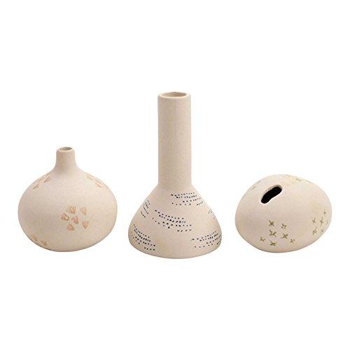 FLOOR | 9 Stamped Mini Bud Vase, Assorted Set of 3