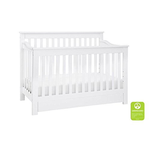 (DaVinci Piedmont 4-in-1 Convertible Crib with Toddler Bed Conversion Kit, White)