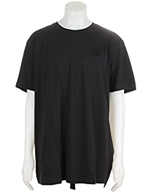 571699-01 MEN TRAPSTAR LOGO TEE PUMA BLACK