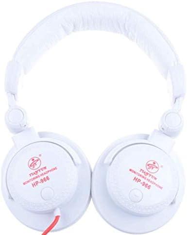 HNSYDS 有線簡単なゲームのヘッドフォンヘッドセット調節可能なイヤーパッドは快適な2つの色が利用可能な着用します ゲーミングヘッドセット (Color : White)
