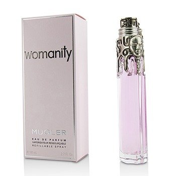 De Parfum Eau 80ml (Womanity by Thierry Mugler for Women, Eau de Parfum Refillable Spray, 2.7 Ounce)