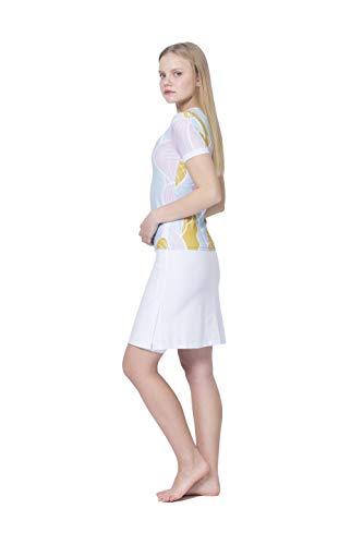 Amanda K Modest Swimwear for Women Short Sleeves Shirt & Skirt w/Leggings (M)
