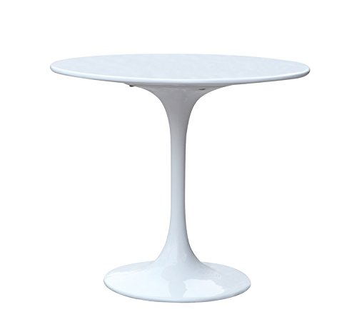 Aron Living WM1062 Eero Saarinen Style Tulip Modern Dining Table, 30″, White Review