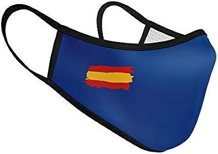 Mascarilla de Tela Homologada Reutilizable Bandera de España - Azul: Amazon.es: Ropa y accesorios