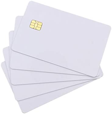 YARONGTECH (Pack de 10) color blanco SLE4442 contact pvc Chip ...