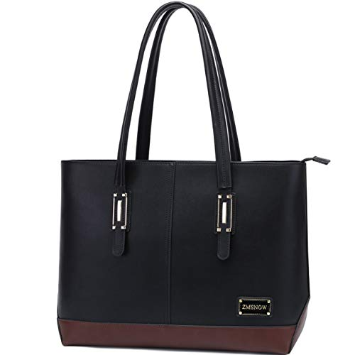 Laptop Bag for Women,Classic Contrast Color Women Work Tote Bag 15.6 Inch Briefcase for Business College Travel