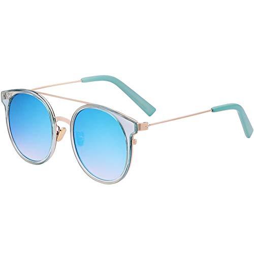colorées de de soleil Lunettes personnalité réfléchissantes bleues NIFG v1wxFqXCC