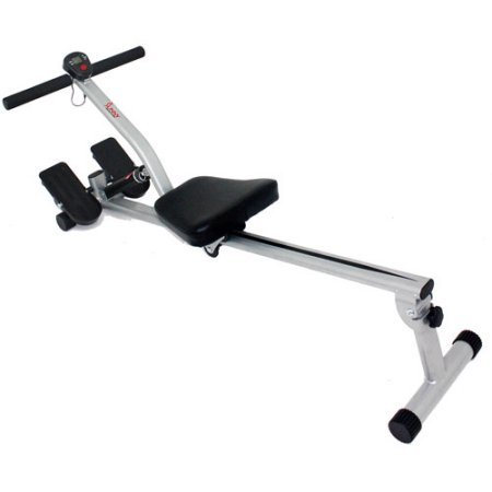 Rowing Machine Fitness Exercise Cardio Workout Training Home Gym Equipment Body Glider Solid Steel Construction Rower Machine 12 Level Adjustable Resistance Comfortable Running Seat Electronic Monitor