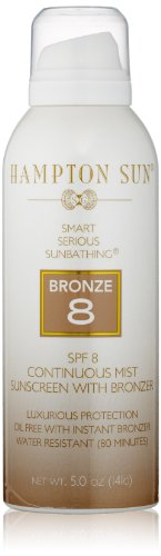 (Hampton Sun SPF 8 Bronze Continuous Mist Sunscreen, 5 Oz)