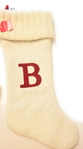Target Christmas Stockings (Wondershop Christmas Holiday Thick Cream Stocking Monogram Letter B G H I L O R Z Measures 19 Holiday Mantel)
