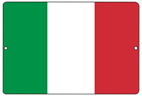 Italian Flag Sign - Rogue River Tactical Italian Flag Metal Tin Sign Wall Decor Man Cave Bar Italy