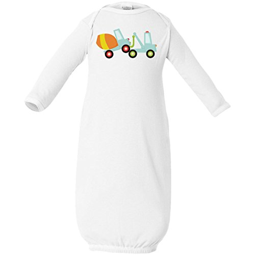 Inktastic Baby Boys' Tow Truck Construction Baby Layette Sleepers Newborn White