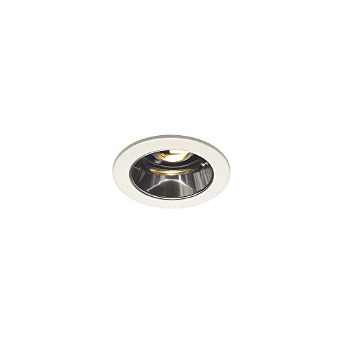 Juno Lighting 447C-WH 4-Inch Adjustable Cone Recessed Trim, Clear Alzak with White Trim