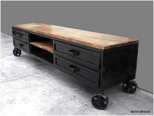 meuble tv industriel 180