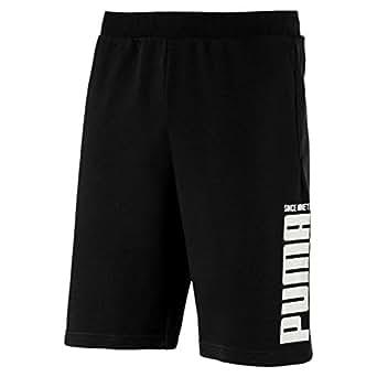 PUMA Men's Rebel Bold Shorts, Cotton Black, M