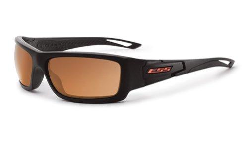 ESS Credence Sunglasses Black Frame Mirrored Copper Lenses - Sunglasses Ess Polarized