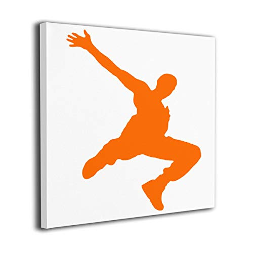 customgogo Oil Paintings Wall Art On Canvas Poster Print Sketched Framed Canvas Parkour Dancer Art Artic Painting Full Square Drill Home Decor for Kitchen Living Room Bedroom Decoration ()