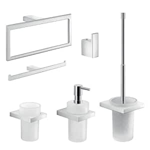 Lanzarote 6 piezas accesorios de ba o set for Accesorios para bano y cocina