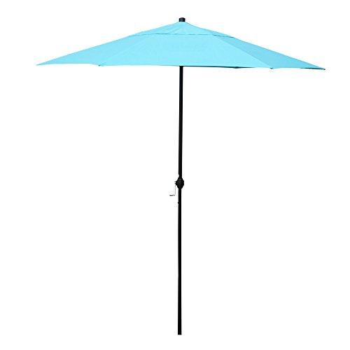 Cheap APEX LIVING 7.5 Feet Garden Patio Umbrella Market Outdoor Table Umbrella with Carry Bag Blue