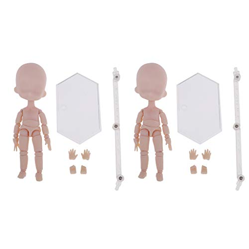 SM SunniMix 2Pcs Movable Nude Parts Joints for 14cm OB11 Dolls DIY Making OOAK Accessory Custom Kids Body Painting Models