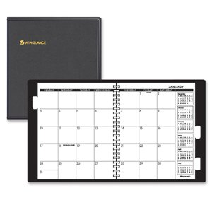 (AT-A-GLANCE Five-Year Monthly Planner, 9 x 11 Inches, Black, 2013)