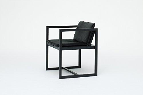 Karimoku New Standard - REN Armlehnstuhl - Ahorn schwarz - Leder schwarz - Karimoku Design Team - Design - Esszimmerstuhl - Küchenstuhl - Speisezimmerstuhl