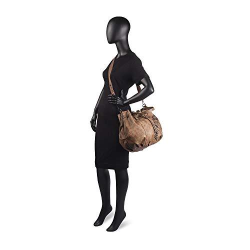 para Metalizado Brand tipo Taupe Color Bolso LOIS bandolera Authentic mujer saquito Gris wEZFgnqv